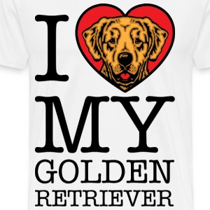 I Heart Love Golden Retrievers T-Shirts - Men's Premium T-Shirt