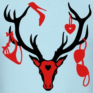 Sexy Deer Stag Night Bachelor Groom Team T-Shirt - Men's T-Shirt
