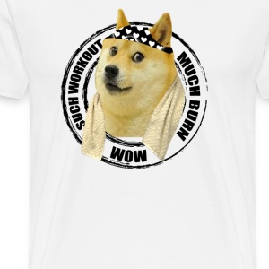 Funny Gym Shirt - Such Workout Much Burn - Doge Workout T Shirt - Men's Premium T-Shirt