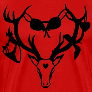 Sexy Deer Stag Night Bachelor Groom Funny T-Shirt - Men's Premium T-Shirt