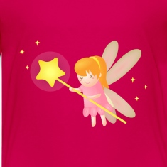 cute magical fairy with star wand, fantasy Kids' Shirts