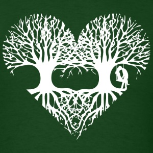 valentine's day tree heart love roots couple kiss  T-Shirts - Men's T-Shirt