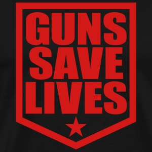 Guns Save Lives Tshirt - Men's Premium T-Shirt
