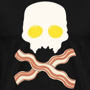 Breakfast Skull - Men's Premium T-Shirt