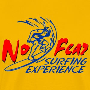 surfing_experience_no_fear_red T-Shirts - Men's Premium T-Shirt