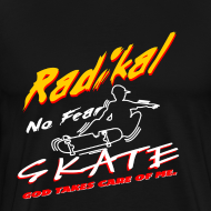 Design ~ Men's Heavyweight T-Shirt Radikal skate