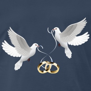 wedding doves rings - Men's Premium T-Shirt