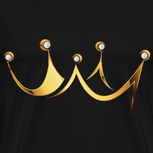 crown with diamonds - Men's Premium T-Shirt