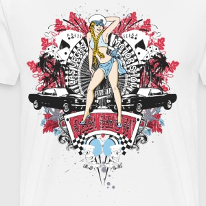 Pin Up Girl - Car Show No.01 T-Shirts - Men's Premium T-Shirt