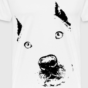 pit bull black digital Men's shirt - Men's Premium T-Shirt