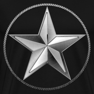 Silver Lone Star - Men's Premium T-Shirt