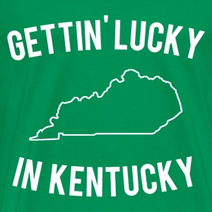 Getting Lucky in Kentucky T Shirt - Men's Premium T-Shirt