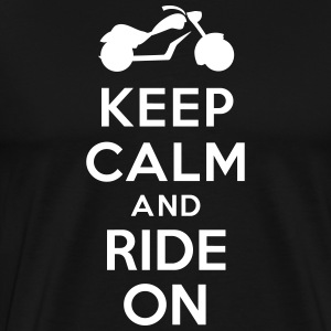 Keep calm and ride on Motorbike T-Shirts - Men's Premium T-Shirt