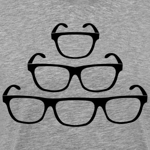 one to three eye glasses Shirt - Men's Premium T-Shirt