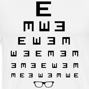 Eye test with glasses Shirt - Men's Premium T-Shirt