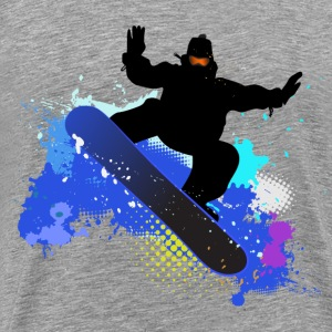 snowboarder in fly - Men's Premium T-Shirt