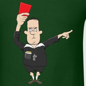 referee with a red card - Men's T-Shirt
