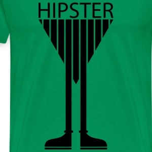 Hipster Sunglasses triangle Face Mustache Beard  D - Men's Premium T-Shirt