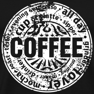 Coffee lover (worn-out) T-Shirts - Men's Premium T-Shirt