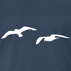 sea gull seagull harbour bird beach sailing ocean T-Shirts - Men's Premium T-Shirt