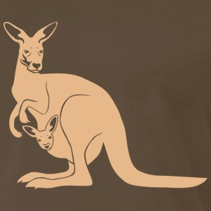 kangaroo roo australia new zealand downunder  T-Shirts - Men's Premium T-Shirt