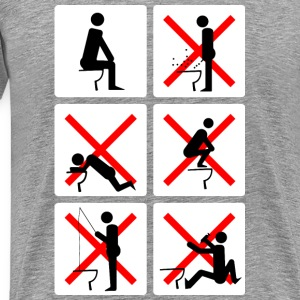 Sochi Toilets Pictograms - Men's Premium T-Shirt