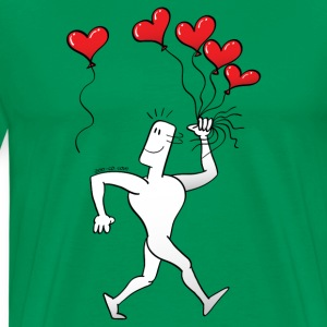A New Heart Balloon is in the Air T-Shirts - Men's Premium T-Shirt