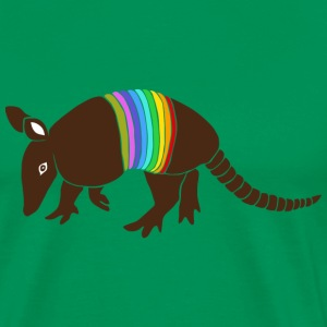armadillo texas turkey hillbilly rainbow T-Shirts - Men's Premium T-Shirt