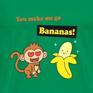 make me go bananas, cute humor love T-Shirts - Men's Premium T-Shirt
