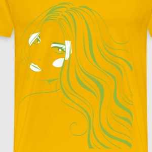 girl face 5 - Men's Premium T-Shirt