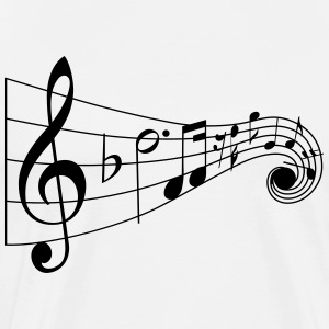 music notes - Men's Premium T-Shirt