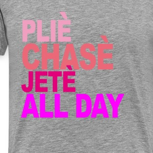 plie_chasse_jete_all_day_ballet_tshirt_v - Men's Premium T-Shirt