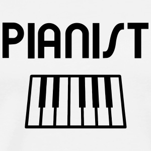 Pianist with piano keyboard T-Shirts - Men's Premium T-Shirt