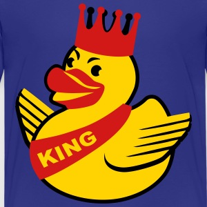 Rubber Duck King Crown Heart Love Kids Baby Babies - Kids' Premium T-Shirt