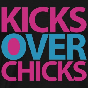 kicks over chicks T-Shirts - Men's Premium T-Shirt