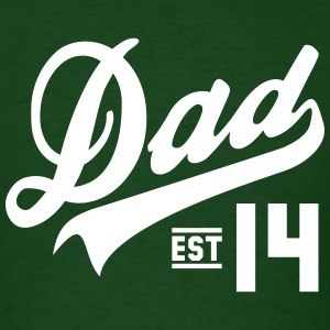 Dad ESTABLISHED 2014 Design T-Shirt WG - Men's T-Shirt