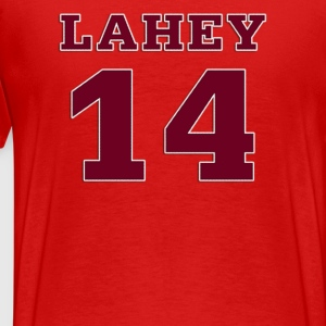 Beacon Hills Lacrosse Lahey 14 on Back T-Shirt - Men's Premium T-Shirt
