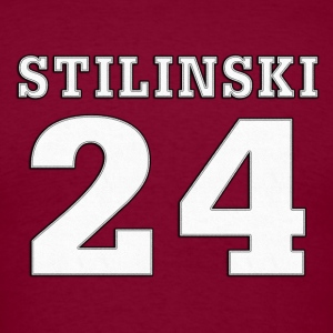 Beacon Hills Lacrosse STILINSKI 24 on Back T-Shirt - Men's T-Shirt