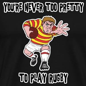 Funny Rugby T-Shirt - Men's Premium T-Shirt