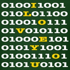 Binary Code - I LOVE YOU T-shirts