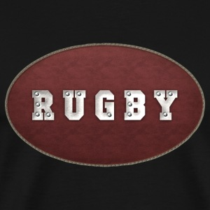 Rugby Leather Riveted T-Shirt - Men's Premium T-Shirt