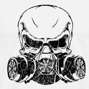 Skull with Gas mask - Men's Premium T-Shirt