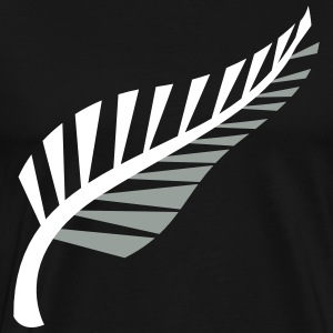 A silver fern symbol of New Zealand Aotearoa T-Shirts - Men's Premium T-Shirt