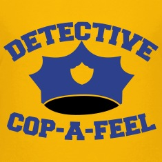 Funny DETECTIVE police man hat COP-A-FEEL Kids' Shirts