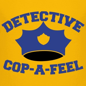 Funny DETECTIVE police man hat COP-A-FEEL Kids' Shirts - Kids' Premium T-Shirt
