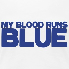 my blood runs BLUE Women's T-Shirts