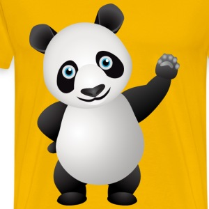 waving panda - Men's Premium T-Shirt