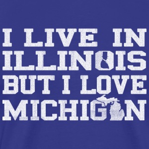live_illinois_love_michigan T-Shirts - Men's Premium T-Shirt