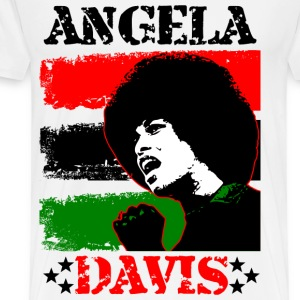 Angela Davis - Red Black & Green T-Shirts - Men's Premium T-Shirt