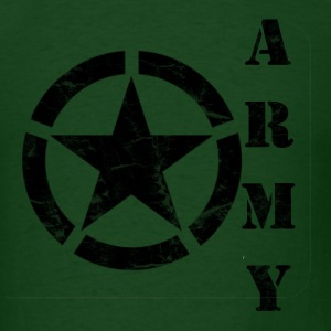 Men's Army Star T Shirt - Men's T-Shirt